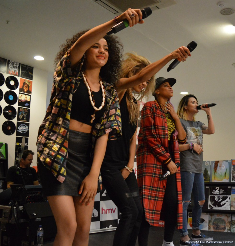 Neon Jungle perform at HMV Manchester