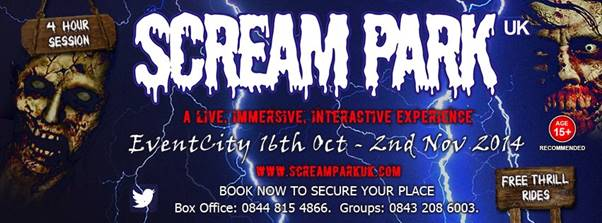 image of Halloween Scream Park UK flyer