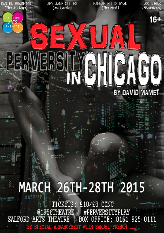 image of the 1956 Theatre production Sexual Perversity in Chicago flyer