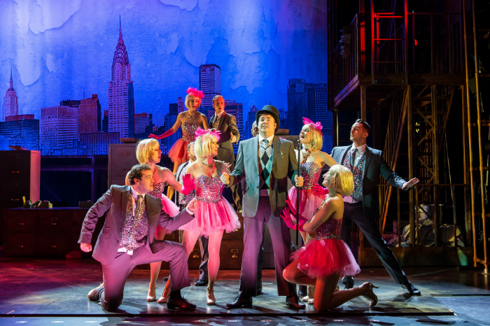 The Producers UK Tour 2015 - Jason Manford as Leo Bloom and company - photo credit Manuel Harlan