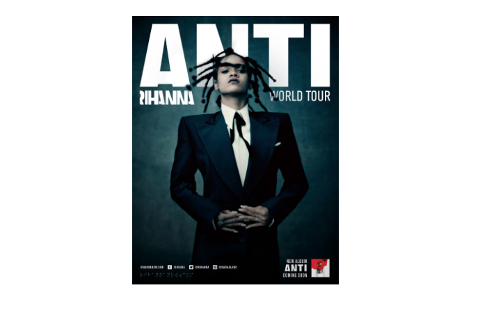 image of Rihanna Anti World Tour poster