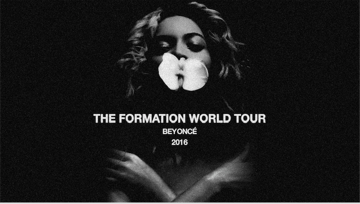 image of Beyonce World Tour poster