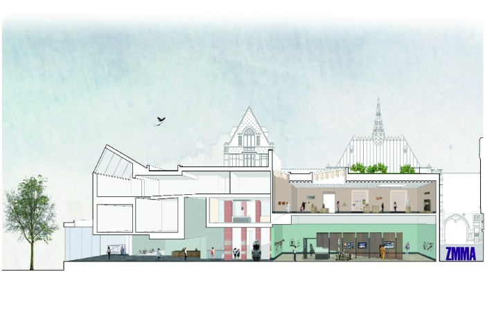 Manchester Museum Architect's Perspective Render - impression image credits Design by ZMMA