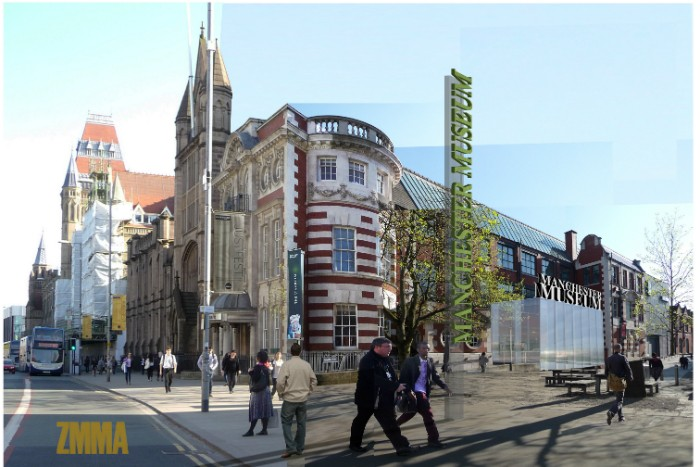Manchester Museum Architect's Render of New Entrance Architect - impression image credits Design by ZMMA