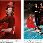 Vogue photos - The Second Age of Beauty is Glamour by Cecil Beaton 1946 and Limelight Nights by Helmut Newton 1973