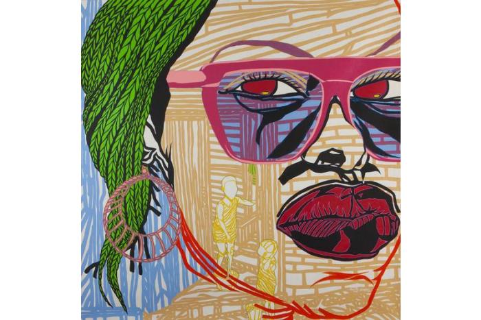 Boris Nzebo painting - She Want Love