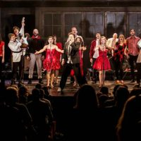 image from performance of The Commitments