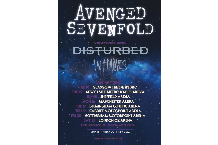 Avenged Sevenfold announce Manchester Arena date - Live