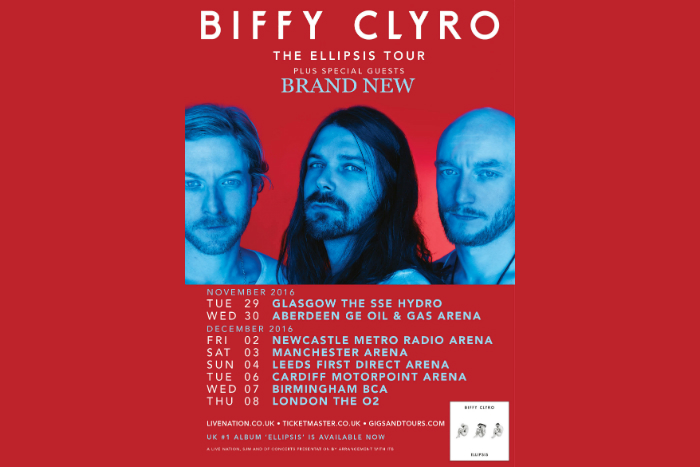 Biffy Clyro tour poster