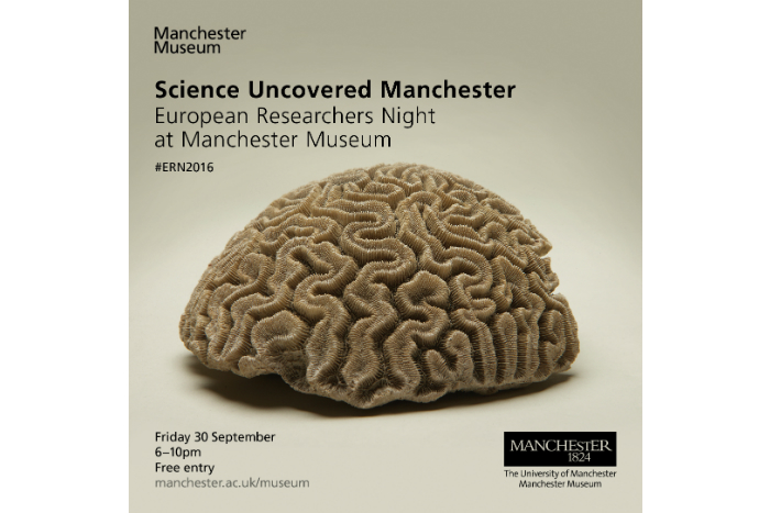 Science Uncovered at Manchester Museum poster