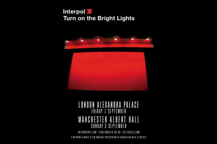 Interpol tour poster