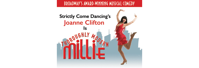 image of Thoroughly Modern Millie staring Joanne Clifton which comes to Manchester's Palace Theatre