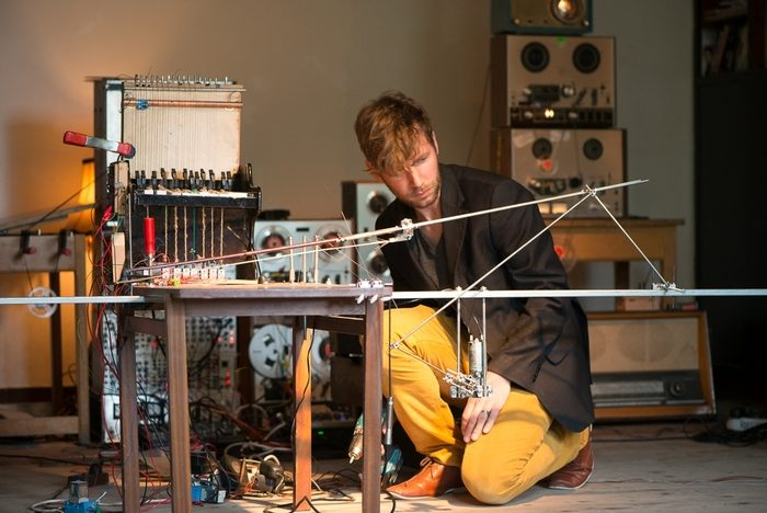 Wouter Van Veldhoven presents an experimental electronics installation at Chetham's as part of Manchester After Hours