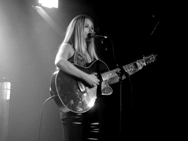 Abi Phillips of UK country pop trio Dahlia at Sound Control, Manchester