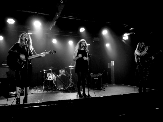 UK country pop trio Dahlia - Paris Georgia (left), Jess Roberts (centre) and Abi Phillips (right) at Sound Control, Manchester