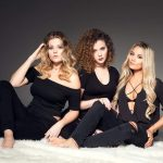 UK country pop trio Dahlia - Paris Georgia (left), Jess Roberts (centre) and Abi Phillips (right)
