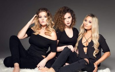 UK country pop trio Dahlia - Paris Georgia (left), Jess Roberts (centre) and Abi Phillips (right)