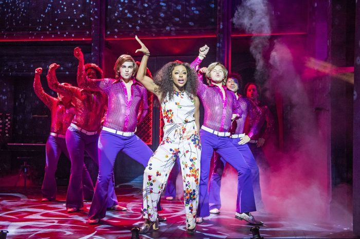 Alexanda Burke appears as Deloris Van Cartier in Sister Act at the Palace Theatre Manchester - Photo by Tristram Kenton