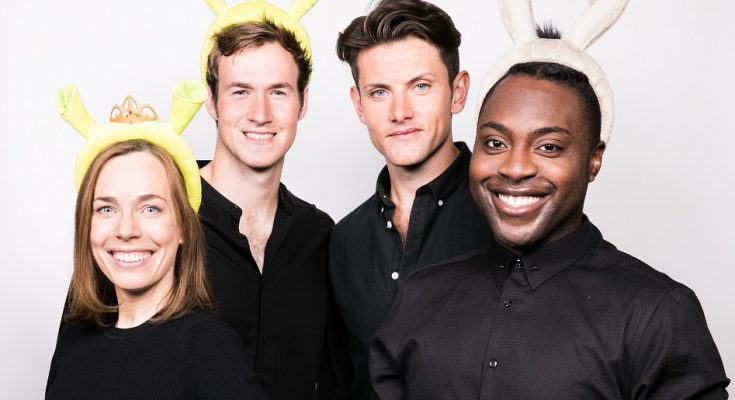 Shrek The Musical at Manchester's Palace Theatre stars Laura Main, Steffan Harri, Samuel Holmes and Marcus Ayton
