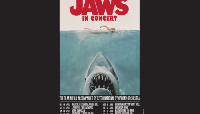 Jaws will be screened the Bridgewater Hall
