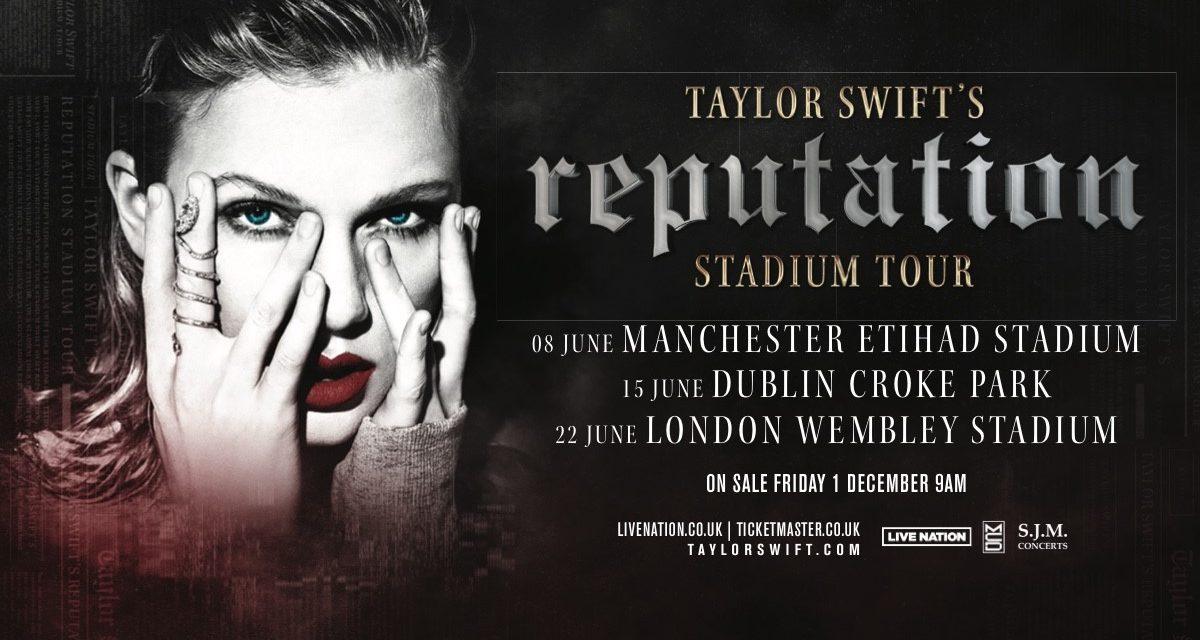 Taylor Swift announces Manchester Etihad Stadium gig