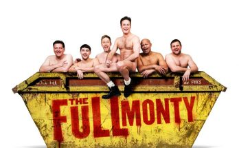 Andrew Dunn, Joe Gill, James Redmond, Gary Lucy, Louis Emerick & kair owen in The Full Monty, credit Matt Crockett
