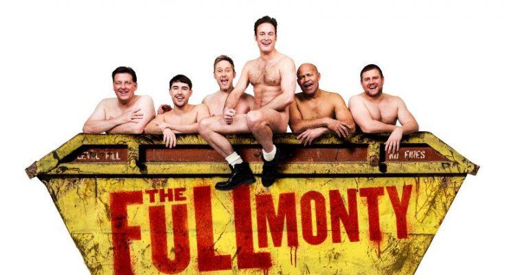 Andrew Dunn, Joe Gill, James Redmond, Gary Lucy, Louis Emerick & kair owen in The Full Monty, credit Matt Crockett
