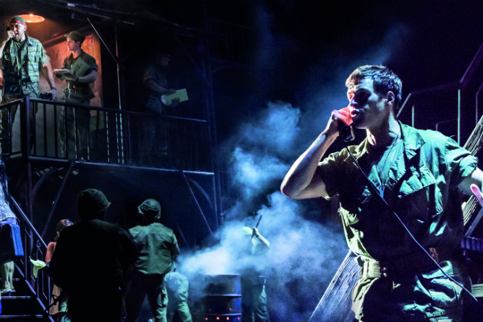 MISS SAIGON comes to Manchester Palace Theatre - Ashley Gilmour 'Chris' and Company - image courtesy Johan Persson