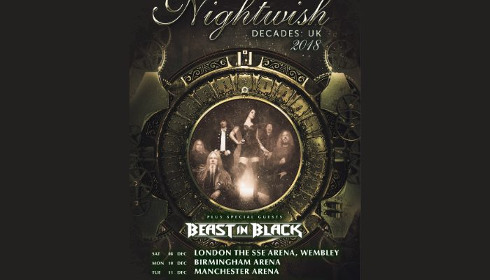 Nighwish will headline at Manchester Arena