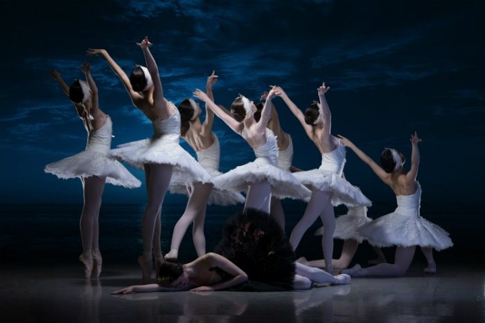 English National Ballet School students in My First Ballet Swan Lake image courtesy ASH