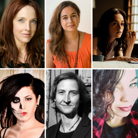 Grimmfest Awards jury - picture (clockwise from top left) - Joanne Mitchell, Caroline Couret Delegue, Lauren Ashley Carter, Anya Stanley, Annick Mahnert and Andrea Subissati.