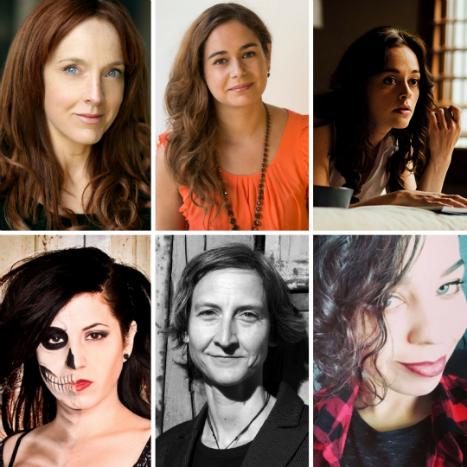 Grimmfest Awards jury - picture (clockwise from top left) - Joanne Mitchell, Caroline Couret Delegue, Lauren Ashley Carter, Anya Stanley, Annick Mahnert and Andrea Subissati.