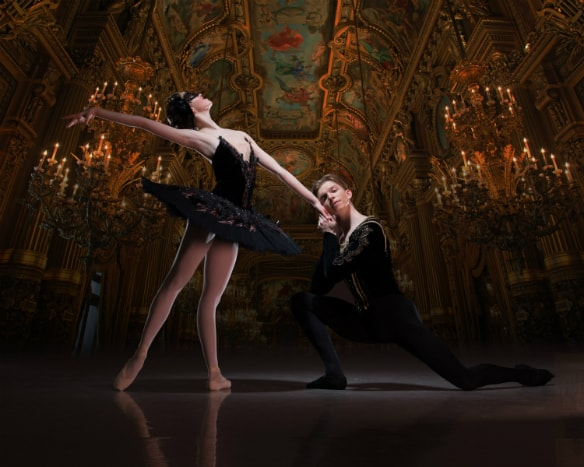 Harvey Littlefield and Beatriz Kuperus as Prince Siegfried and Odile in My First Ballet Swan Lake image courtesy ASH