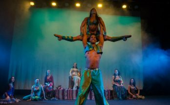 Wade Lewin and Maelle Mayel in Scheherazade and 1001 Nights. Image courtesy Paul Houlton.