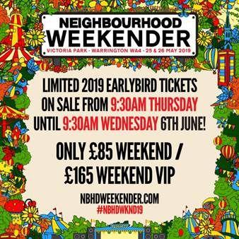 Neighbourhood Weekender to return in 2019