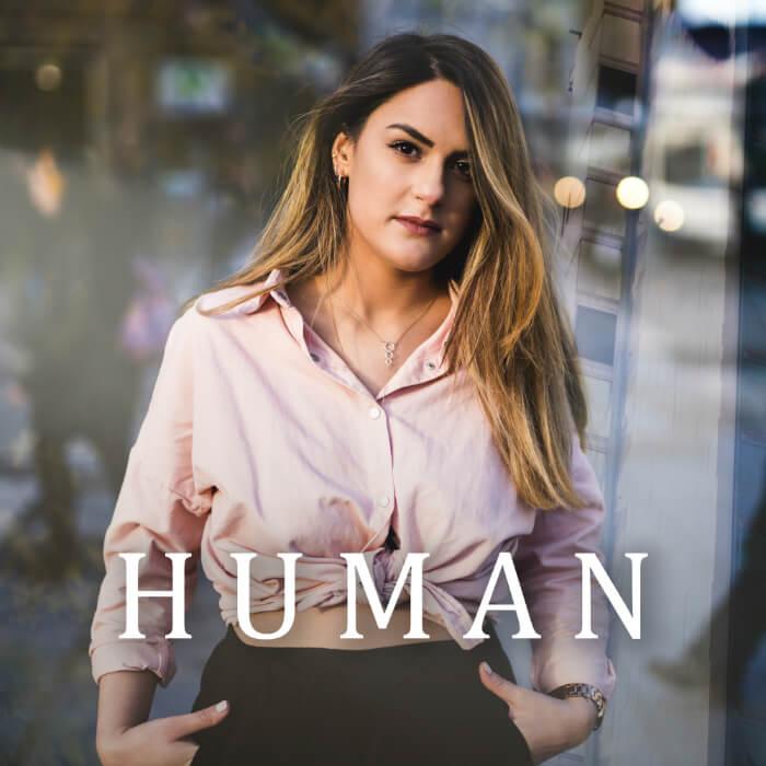 Kate Anita releases new single Human - artwork by Sam Fenton