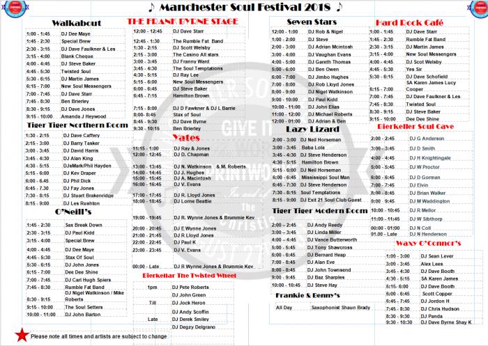 Manchester Soul Festival programme