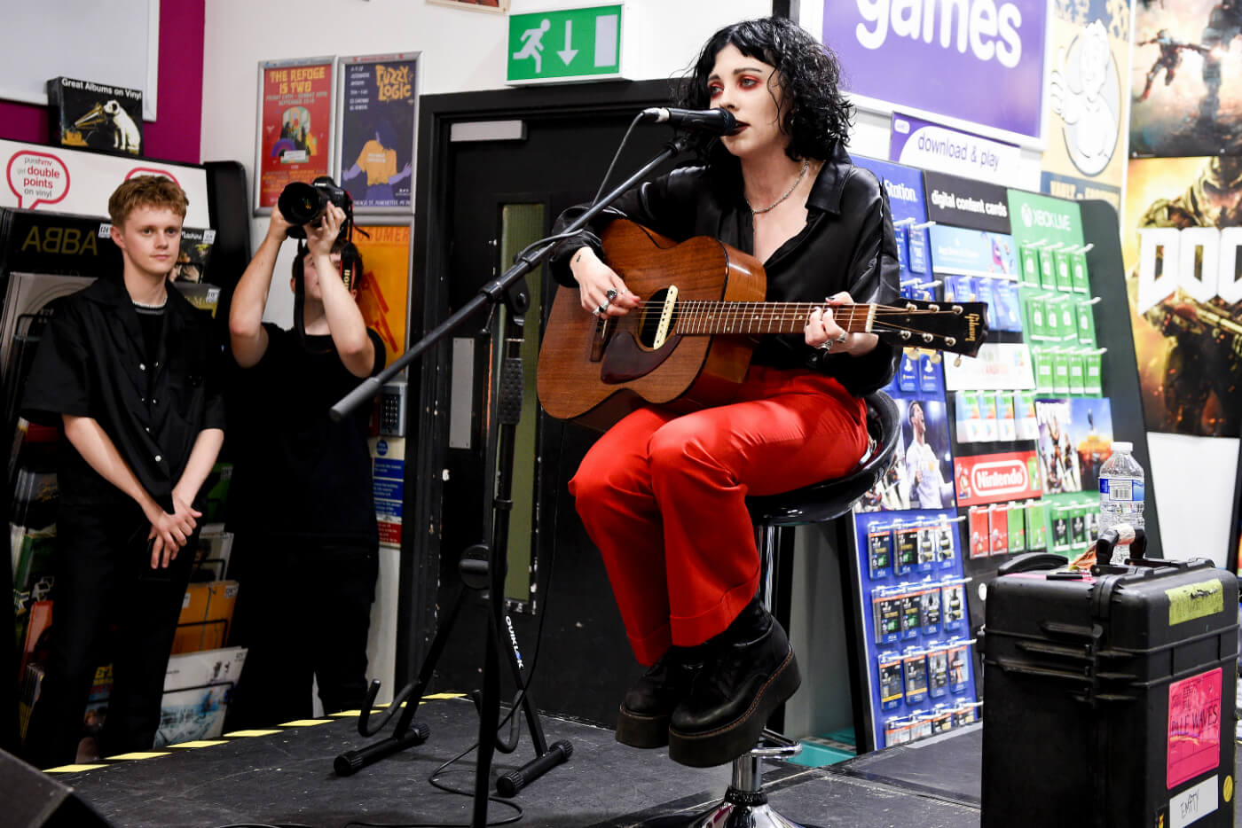 Manchester quartet Pale Waves signing copies of their new album My Mind Makes Noises and performing at HMV Manchester - image courtesy Shirlaine Forrest