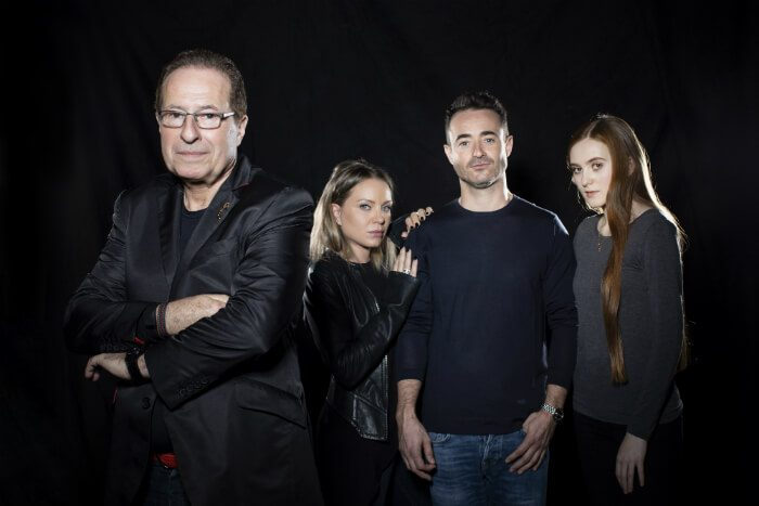 Manchester Theatre - The House on Cold Hill (l-r Peter James, Rita Simons, Joe McFadden, Persephone Swales-Dawson) image courtesy Helen Maybanks