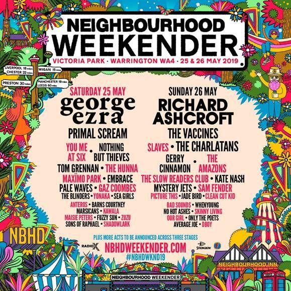 Neighbourhood Weekender 2019 – line-up details released