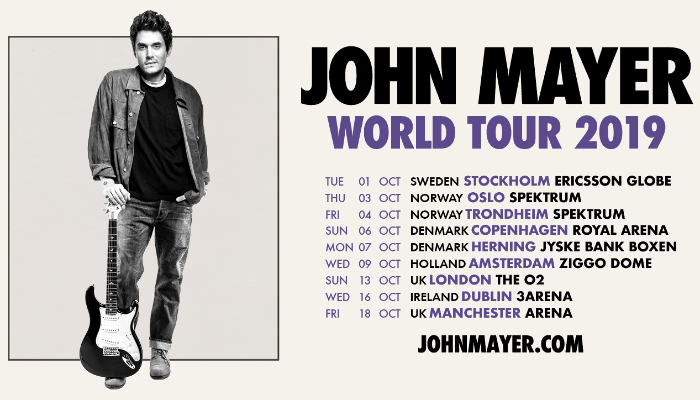John Mayer will headline Manchester Arena
