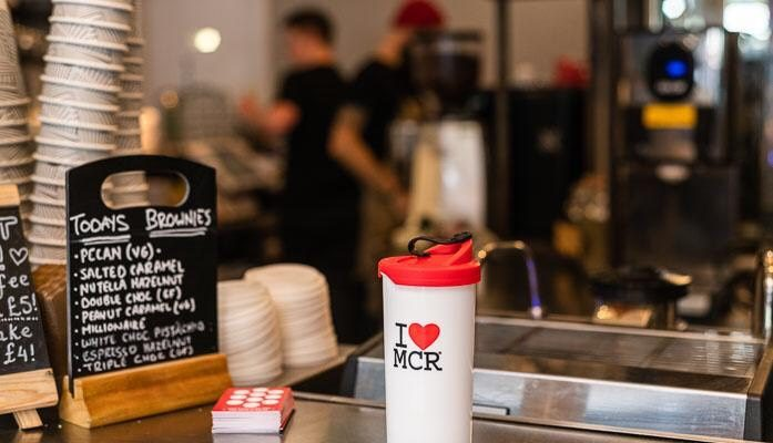 Manchester coffee shops will encourage the use of reusable coffee cups in support of the We Love Manchester charity