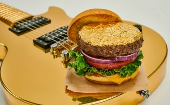 Manchester Hard Rock Cafes gold leaf steak burger