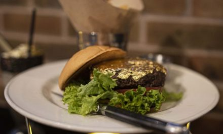 We ate a 24karat gold leaf burger … and we liked it!