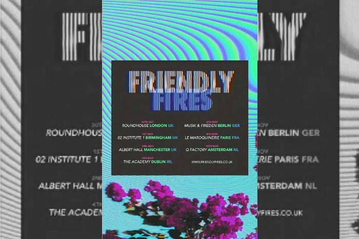 Friendly Fires announces Manchester Albert Hall gig