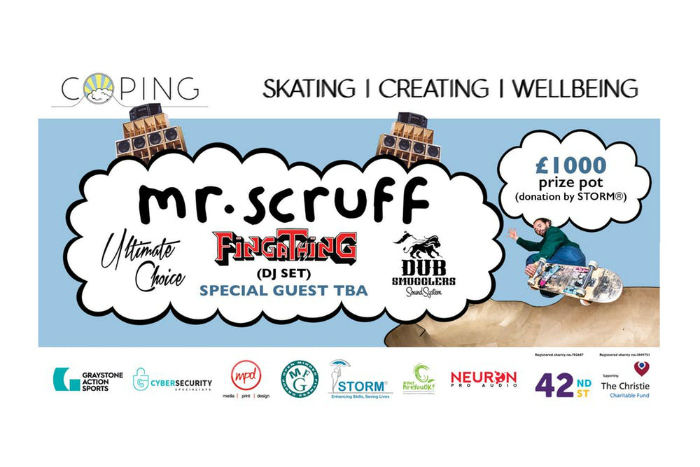 Mr Scruff joins skating community for new mental health event in Salford