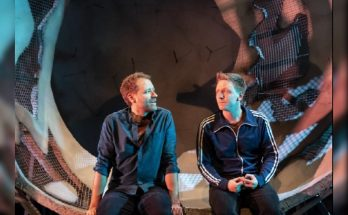 Image of Phil Cheadle and Mike Noble in Reasons To Stay Alive courtesy Johan Persson
