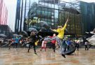 Singin in the Rain flashmob at HOME Manchester