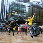 Singin in the Rain flashmob at HOME Manchester