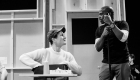 Hugh Coles and Cedric Neal in rehearsals for Back to the Future The Musical, credit Sean Ebsworth Barnes